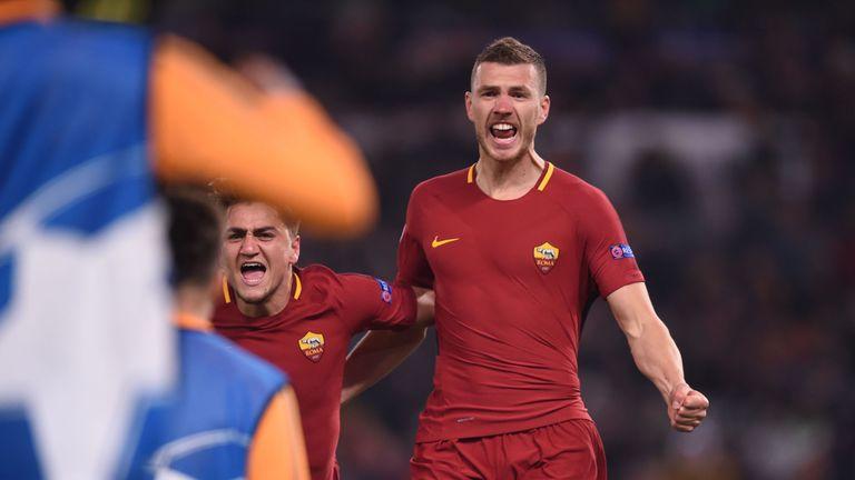 Edin Dzeko helped Roma beat Shakhtar Donetsk in the last 16