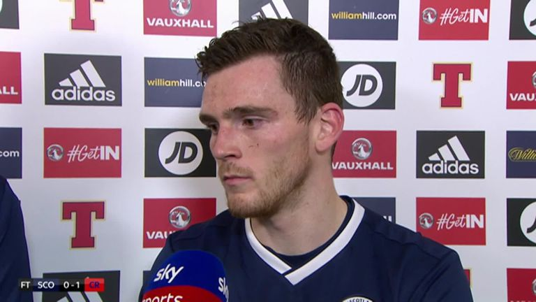 Andy Robertson was named man of the match against Costa Rica