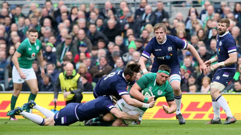 In a nervy and error-ridden encounter, Ireland proved too powerful for a dangerous-looking Scotland