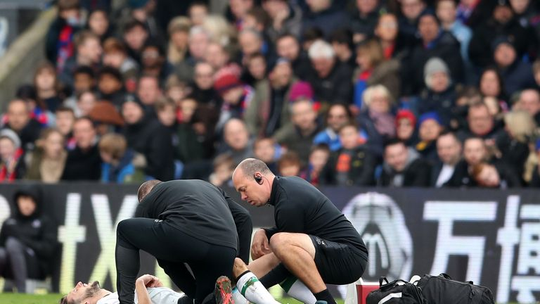 Adam Lallana was injured just five minutes after coming on for Liverpool on Saturday