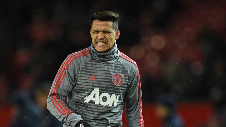Alexis Sanchez was an unused substitute