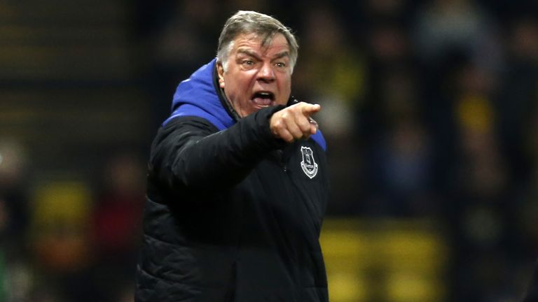 Sam Allardyce conducted his training session indoors on Friday