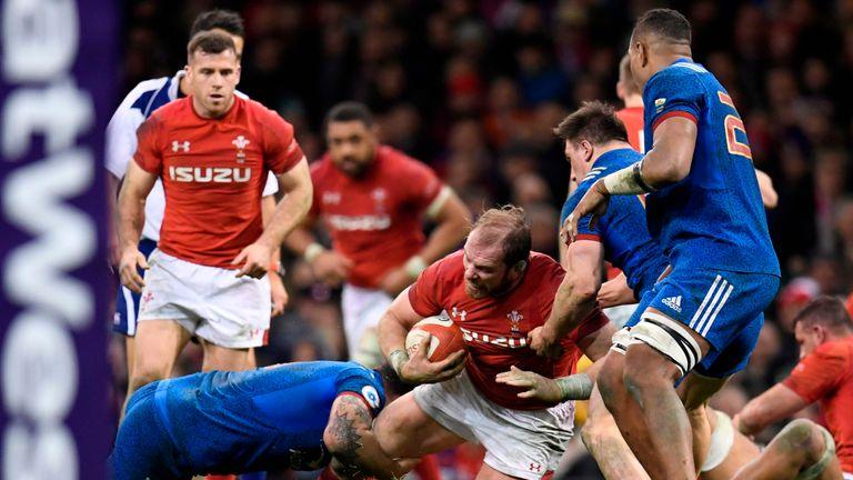 Alun Wyn Jones in action for Wales