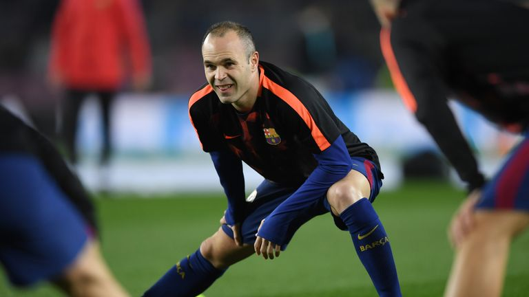 Barcelona expect Andres Iniesta to leave for China in the summer