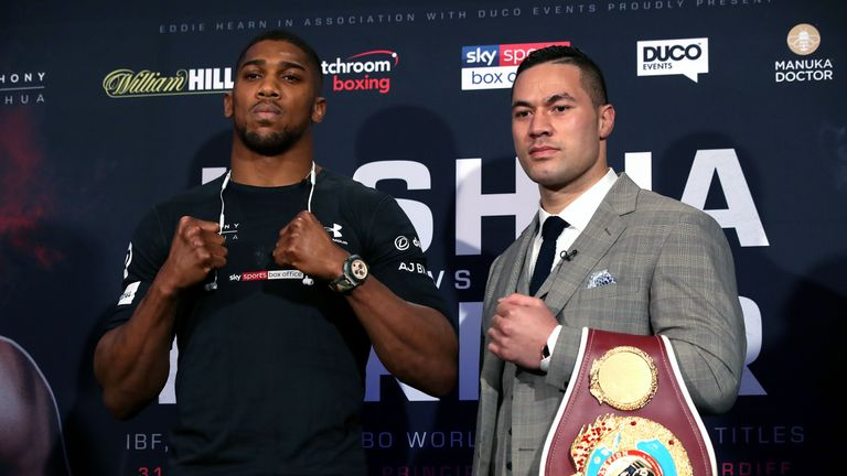 Anthony Joshua and Joseph Parker met again at Sky Central