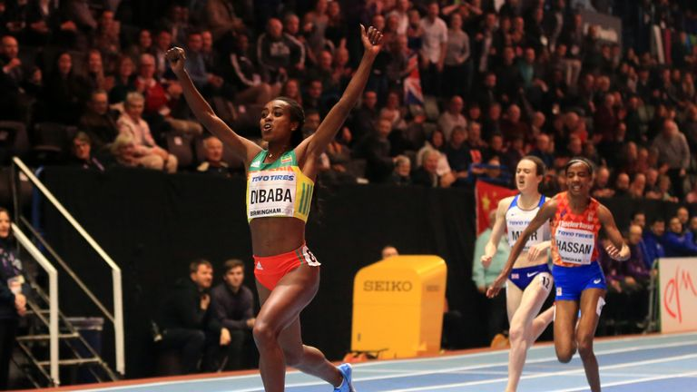 Muir finishes third in the 3,000m at the World Indoor Championships