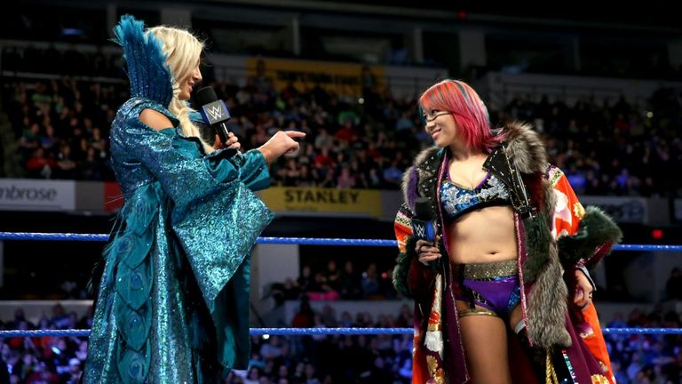 Asuka made her SmackDown debut ahead of the hotly-anticipated match with Charlotte Flair at WrestleMania