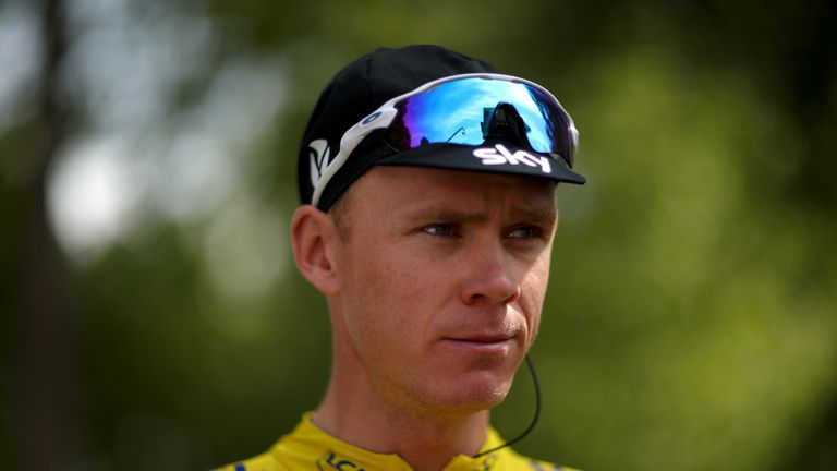 Chris Froome has rubbished claims he was treated with corticosteroids