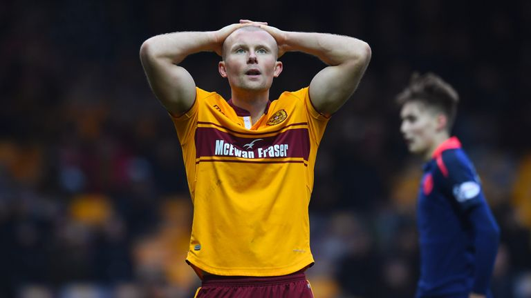 Curtis Main has scored six goals since joining Motherwell in January