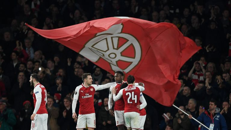 Arsenal cruised through to the Europa League last eight on Thursday