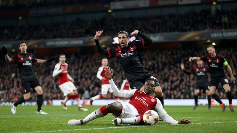 Arsenal knocked Milan out of this season's Europa League