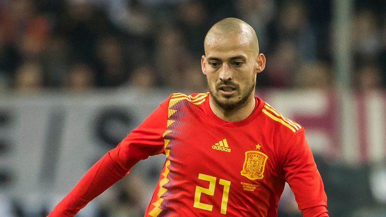 David Silva is one of four Premier League players in the squad
