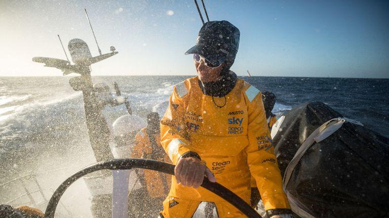 Caffari navigating the Roaring Forties in March, 2018.