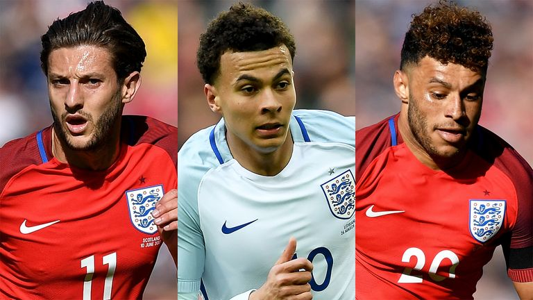 England midfielders Adam Lallana, Dele Alli and Alex Oxlade-Chamberlain are likely to earn call ups