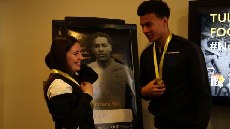 Dele Alli was among those at St George's Park learning more about Tull's life