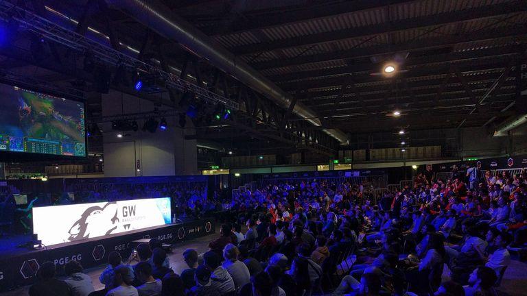 The crowd enjoying Warwick's LAN event (credit: Warwick League of Legends Society)
