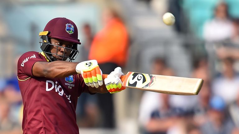Evin Lewis hit 84 as the Windies posted 309-6 against the Netherlands