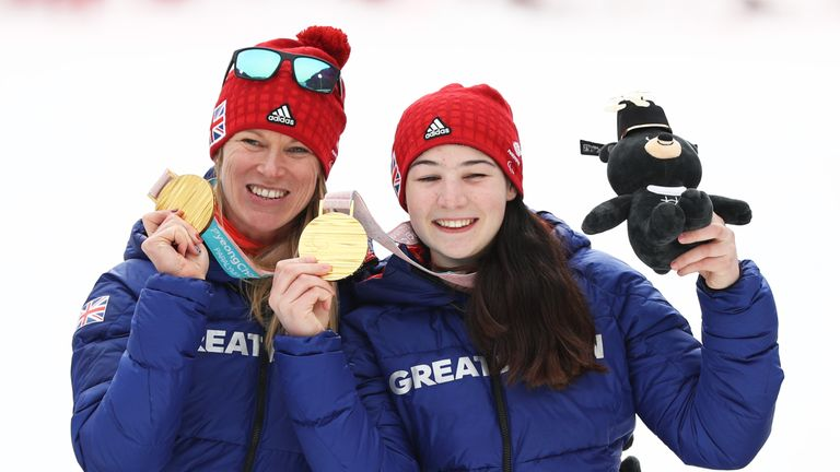 Menna Fitzpatrick (right) and guide Jen Kehoe capped a superb Paralympics with gold
