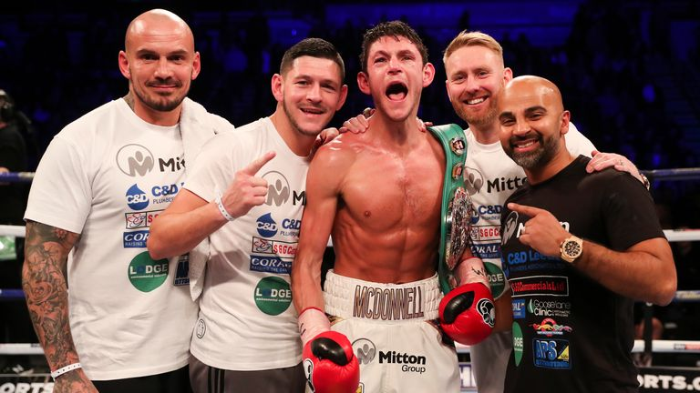 Gavin McDonnell faces Stuey Hall at the Metro Radio Arena