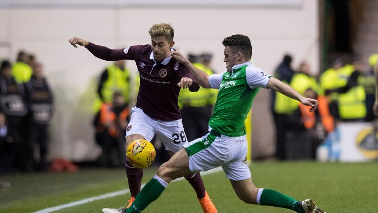 Hibernian's John McGinn (right) was nominated for the PFA Scotland Player of the Season