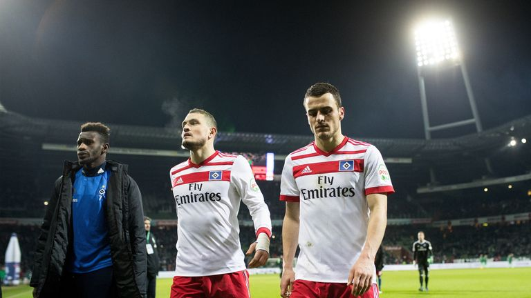 Hamburg trudge off after last week's damaging defeat to rivals Werder Bremen