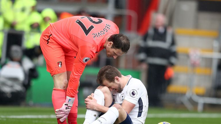 Harry Kane suffered an injury in Tottenham's win over Bournemouth