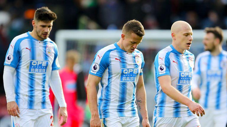 Huddersfield lost to Crystal Palace 2-0 at the John Smith's Stadium