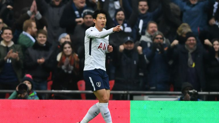 Son scored twice against Huddersfield