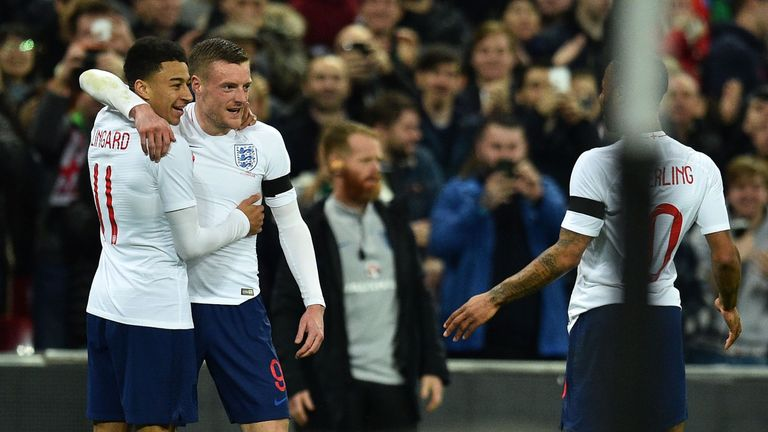 Jamie Vardy and Jesse Lingard combined for England's opening goal against Italy