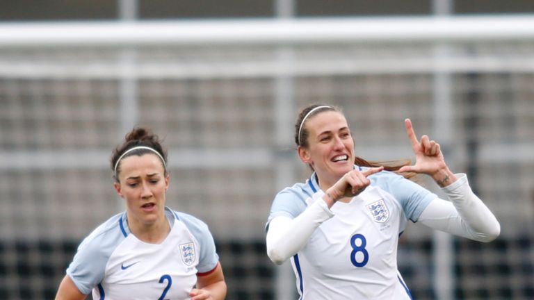 Jill Scott scored England's second in the 4-1 win over France last month