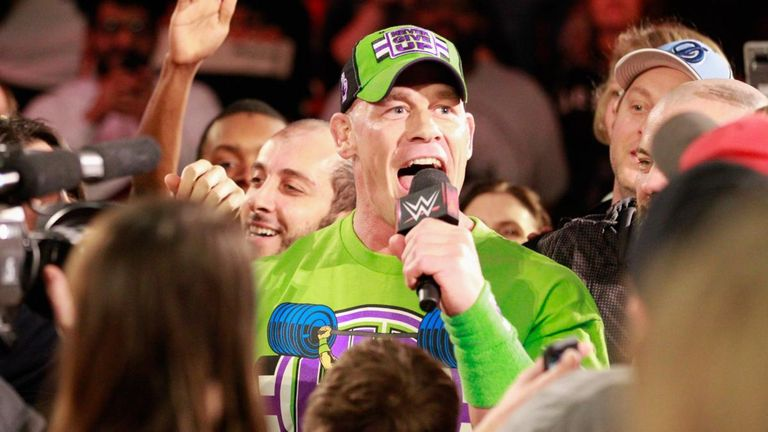 John Cena went into the crowd to emphasise his point that he has been sidelined at WrestleMania