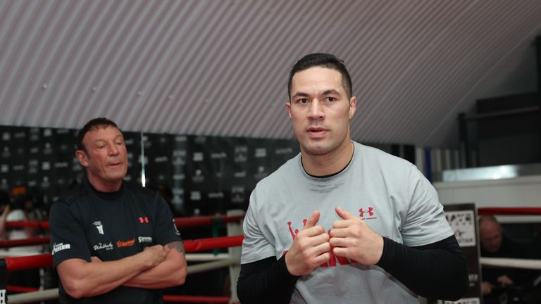 Joseph Parker is finishing his training camp for the Anthony Joshua fight on March 31, live on Sky Sports Box Office