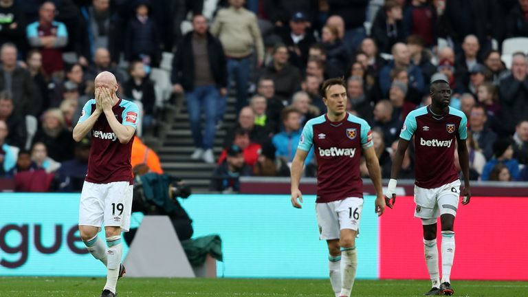 West Ham suffered a 3-0 defeat to Burnley last time out