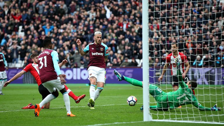 Arnautovic's goals plunged Hughes' new team into further trouble