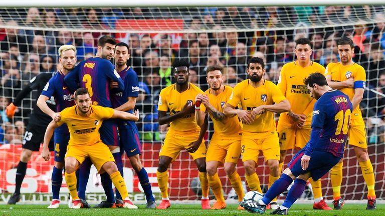 Messi scored the match-winning goal against Atletico Madrid in March