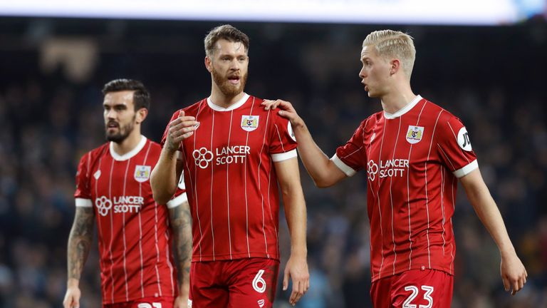 Nathan Baker is among the players unlikely to feature for Bristol City