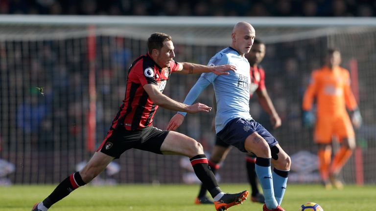 Jonjo Shelvey misses out on playing against his former club through injury