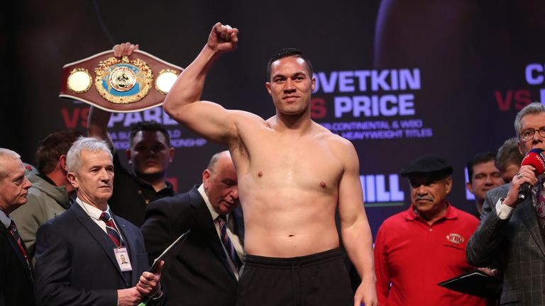 Parker held the WBO heavyweight title for almost two years