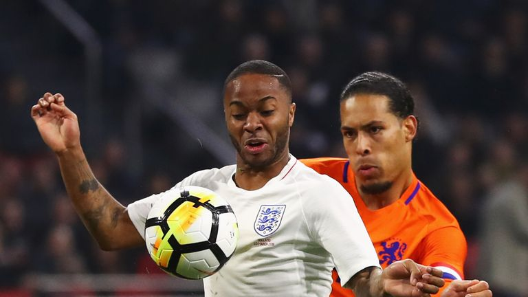 Raheem Sterling and Virgil van Dijk went head to head as England beat the Netherlands on Friday