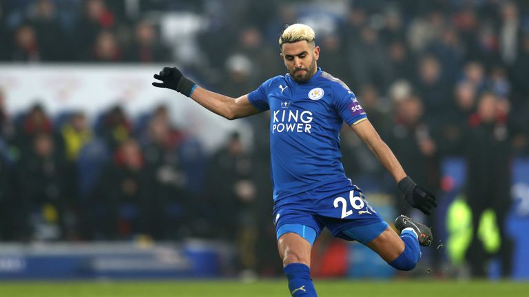 Leicester's Riyad Mahrez was targeted by Manchester City in January