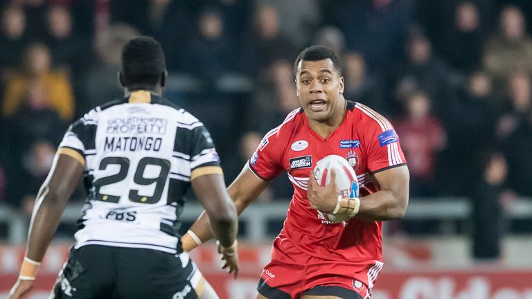 The home side scored six tries on the night