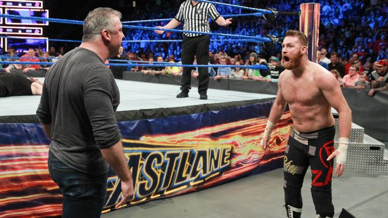 Shane McMahon denied both Kevin Owens and Sami Zayn victory in the six-pack challenge match for the WWE title at Fastlane