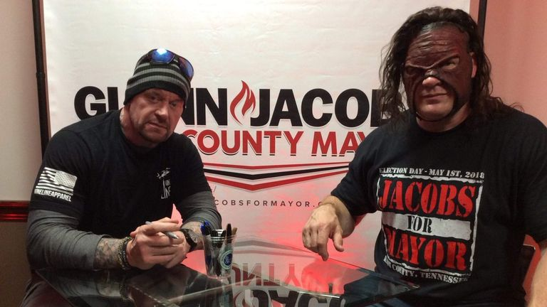 The Undertaker was on the campaign trail with Kane (picture: @TNRevolver)