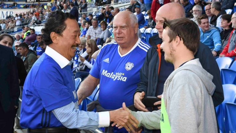 Cardiff City owner Vincent Tan will reimburse fans' travel costs to Derby