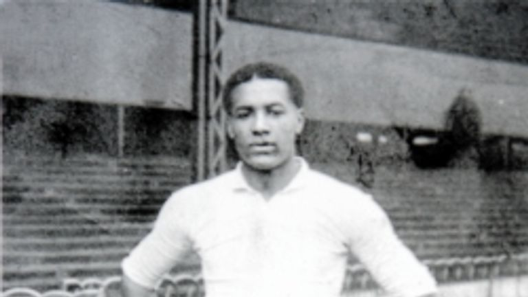 Walter Tull poses for a photo in his days as a Tottenham player