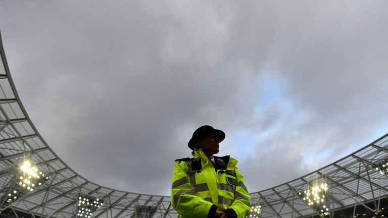 There will be close scrutiny of fans at the Olympic Stadium this weekend