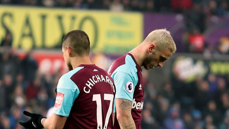 West Ham sit three points above the relegation zone following three successive defeats