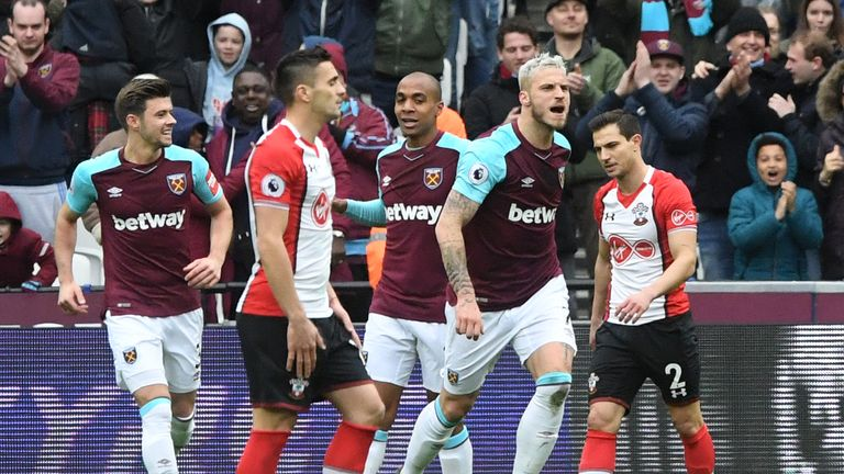 Arnautovic starred in front of his former manager Mark Hughes