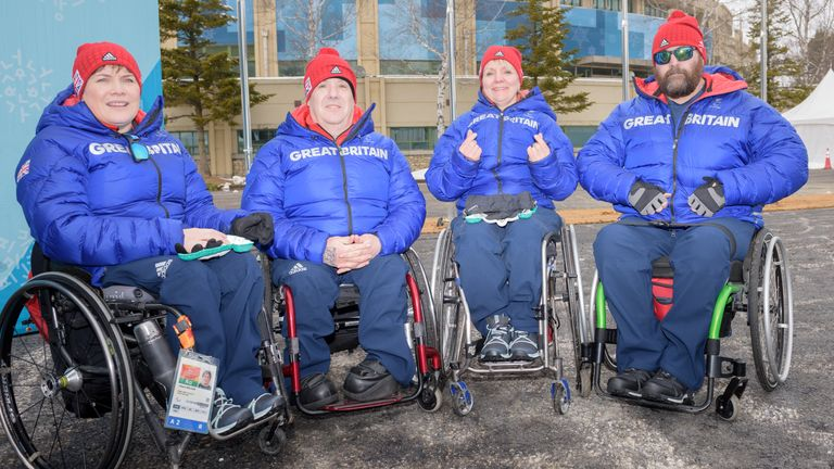 Team GB's Winter Paralympic wheelchair curling team