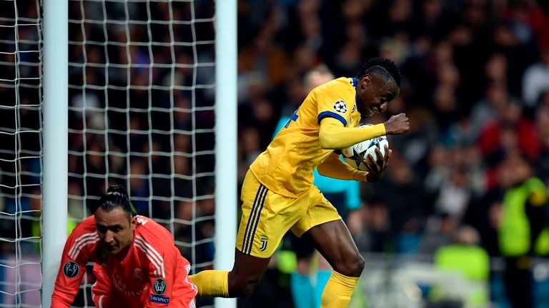 Blaise Matuidi retrieves the ball having scored following Keylor Navas' error